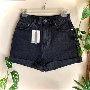 High-waisted ASOS Denim Shorts